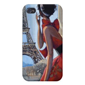 Red Dress, Eiffel Tower, Let's Go Cover For iPhone 4