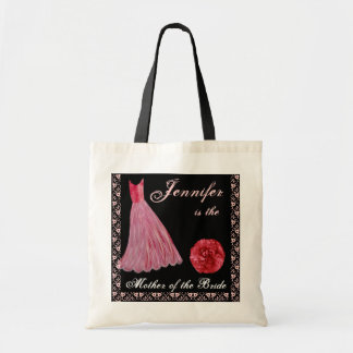RED Dress - Mother of the Bride Cotton Tote Bag
