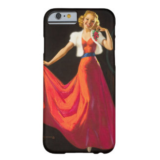 Red Dress Pin Up Art Barely There iPhone 6 Case