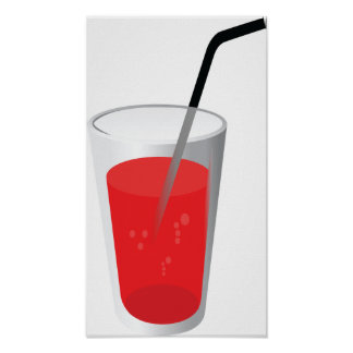 Red Drink Poster