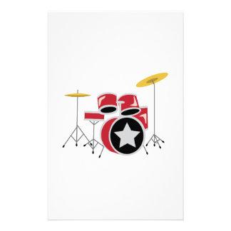 Red Drum Set Stationery