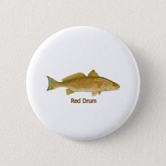 Red Drum (titled) 2 Inch Round Button