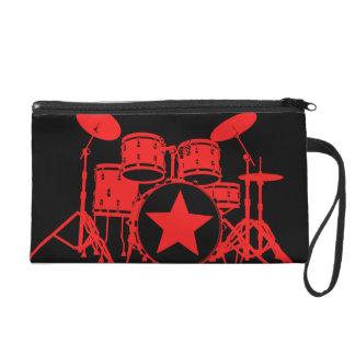 Red Drums Wristlet
