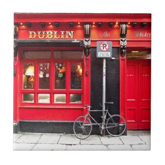 Red Dublin Pub Tile