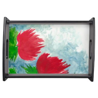 Red Duo Serving Tray
