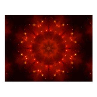 Red Dwarf Mandala Postcard