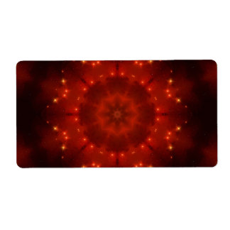 Red Dwarf Mandala Shipping Label
