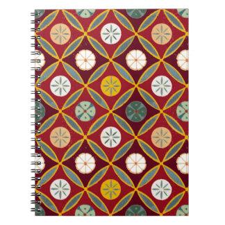 Red Egyptian Tiles Notebooks