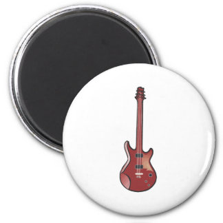 Red Electric Guitar Magnet