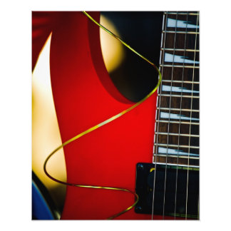 Red Electric guitar Photo Print