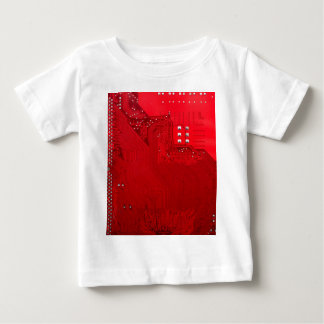 red electronic circuit board.JPG Baby T-Shirt