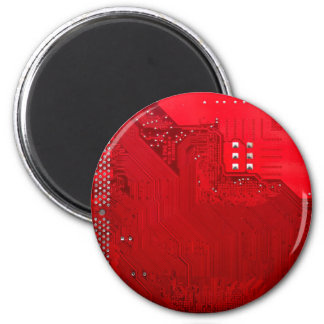 red electronic circuit board.JPG Magnet