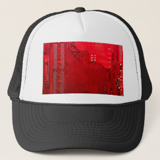 red electronic circuit board.JPG Trucker Hat