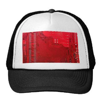 red electronic circuit board.JPG Trucker Hat