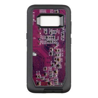 Red Electronic Circuit Board OtterBox Defender Samsung Galaxy S8 Case
