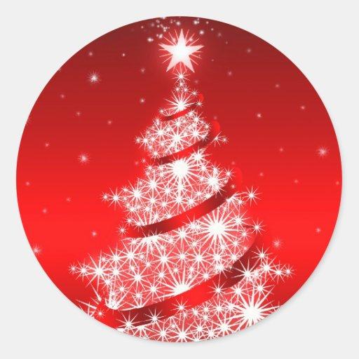 Red Elegant Christmas Tree Sticker