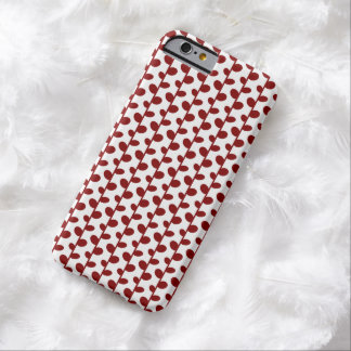 Red Elegant Modern Chic Leaf Pattern Barely There iPhone 6 Case