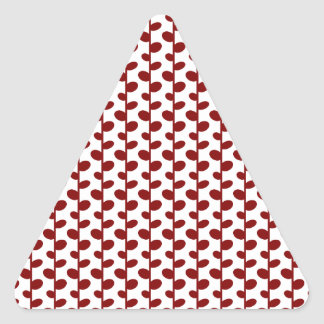 Red Elegant Modern Chic Leaf Pattern Triangle Sticker