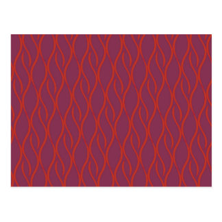 Red elegant pattern postcard