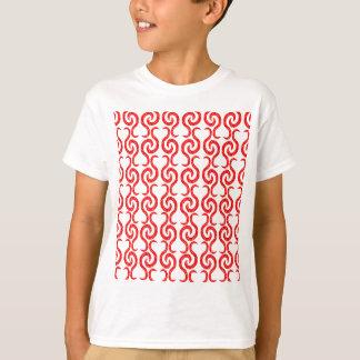 Red elegant pattern T-Shirt