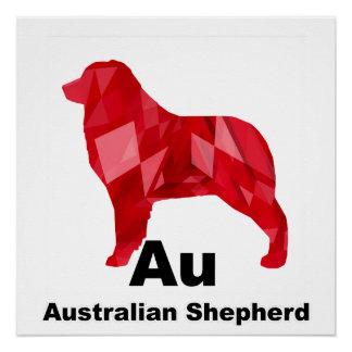 Red Elemental Aussie Perfect Poster