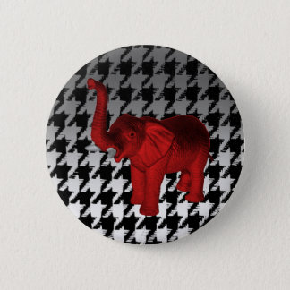 Red Elephant 2 Inch Round Button