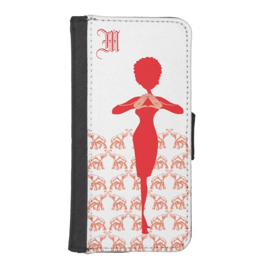 Red Elephant Diva Girly Phone Wallet Cases