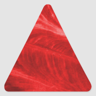 Red Elephant Ear Texture Triangle Sticker