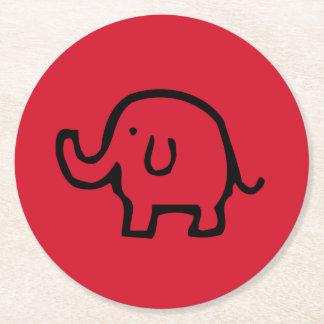 Red Elephant Image Coasters