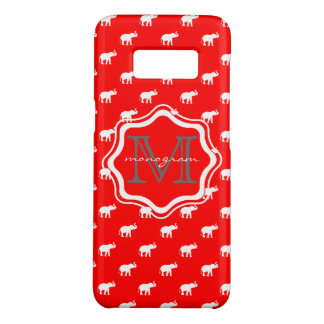 Red Elephant in polkadot Case-Mate Samsung Galaxy S8 Case