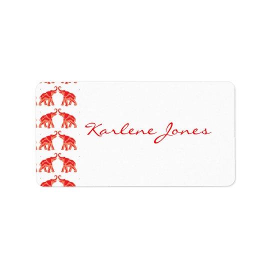 Red Elephant Label