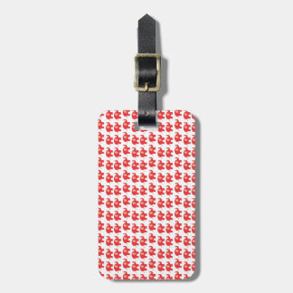 Red Elephant Travel Bag Tag Template