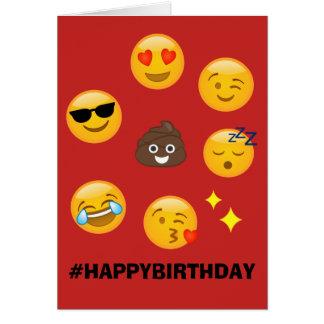 Red Emoji Card #HAPPYBIRTHDAY