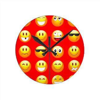 red emojis round clock