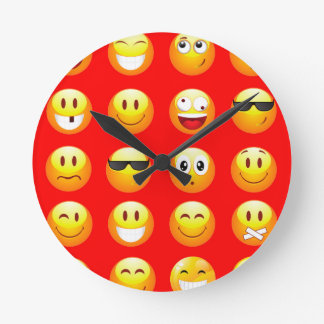 red emojis wallclocks