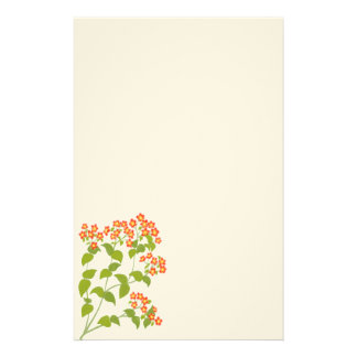 Red English Wildflowers Stationery