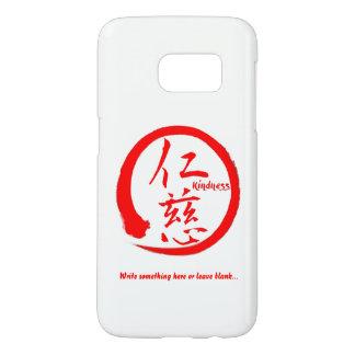 Red enso zen circle • Kindness kanji Samsung Galaxy S7 Case