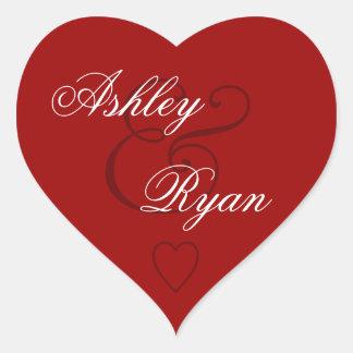 Red Envelope Seal Wedding Heart Sticker