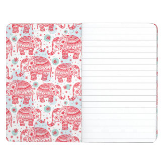 Red Ethnic Elephant Pattern Journal