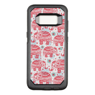 Red Ethnic Elephant Pattern OtterBox Commuter Samsung Galaxy S8 Case