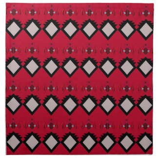 Red ethno elements design Vintage Napkin