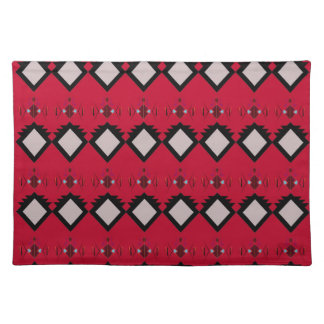 Red ethno elements design Vintage Placemat