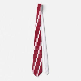 Red ethno elements design Vintage Tie