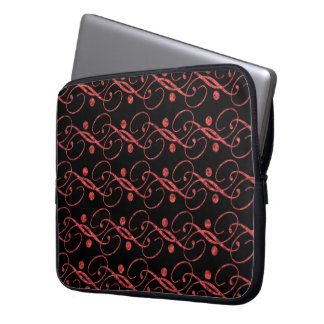 Red examined laptop sleeve