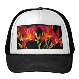 Red Exotic Garden Flowers Elegant Romantic gifts Trucker Hat