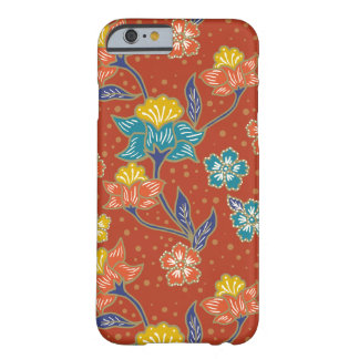 Red exotic Indonesian floral batik pattern Barely There iPhone 6 Case