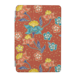 Red exotic Indonesian floral batik pattern iPad Mini Cover