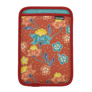 Red exotic Indonesian floral batik pattern iPad Mini Sleeve