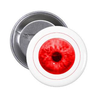 Red Eye Eyeball jGibney The MUSEUM Artist Serie 2 Inch Round Button