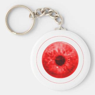 Red Eye Eyeball jGibney The MUSEUM Artist Serie Basic Round Button Keychain
